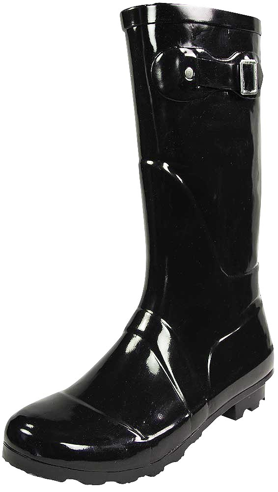 Rubber, craft, glossy, midcalf, waterproof