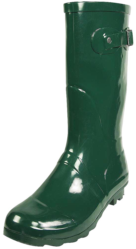 Rubber, midcalf, waterproof, craft, glossy